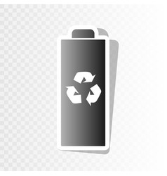 battery recycle sign new vector image
