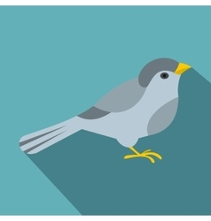 Bird icon flat style vector