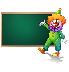 Board and clown vector image vector image