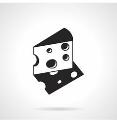 Cheese slice icon vector image vector image