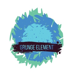 Color grunge abstract element vector image vector image