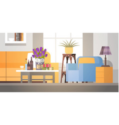 decorated living room interior flowers for mom vector image vector image