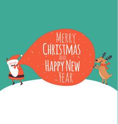 happy new year card santa s greetings vector image