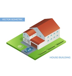 House with car vector