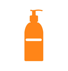 Isolated sunscreen bottle vector