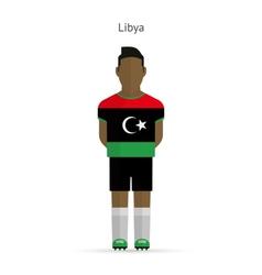 Libya football player soccer uniform vector