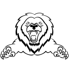 lion tribal tattoo vector image