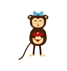 monkey icon vector image vector image