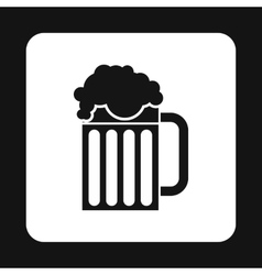 Mug of beer icon simple style vector image