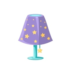 Night light with the stars vector