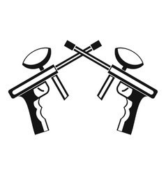 Paintball guns icon simple style vector