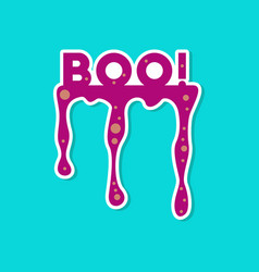 Paper sticker on stylish background halloween boo vector