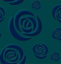 Pattern of dark blue roses vector