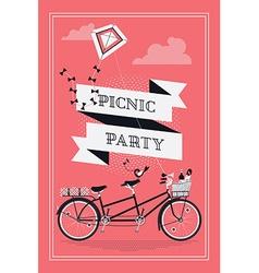 Retro picnic party vector