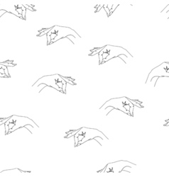 Seamless pattern with arms vector image