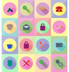 Service flat icons 19 vector