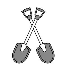 shovel tools design vector image vector image