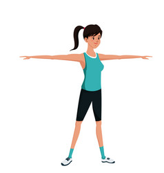 Sport girl exercise training image vector