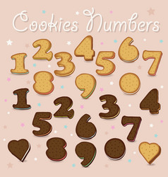 Sweet cookies numbers vector