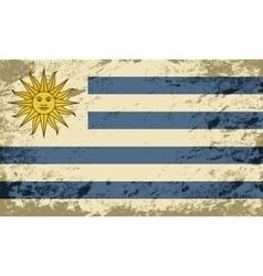 Uruguayan flag Grunge background vector image vector image