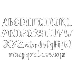 vintage sketch alphabet vector image