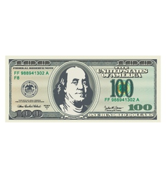 100 dollar bill vector