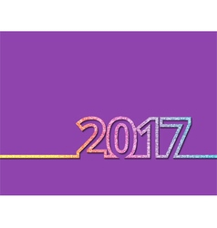 Colorful new year inscription 2017 vector