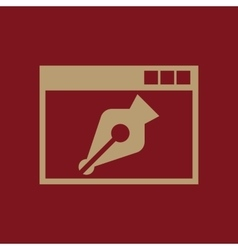 The web design icon www and browser development vector