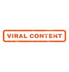 Viral content rubber stamp vector