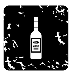 Bottle of vodka icon grunge style vector