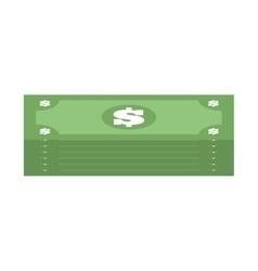 stacked bill money dollar vector image