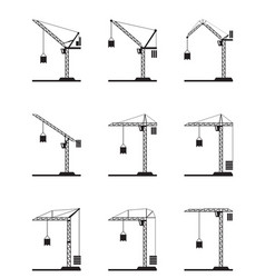 Different tower cranes vector