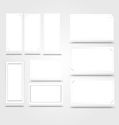 Vertical white frame paper background with drop vector