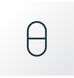 Pills outline symbol premium quality isolated vector