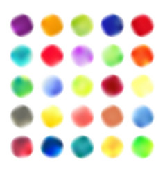 Colored blots set vector