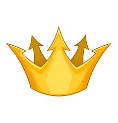 Prince crown icon cartoon style vector