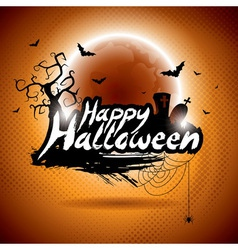 on a Happy Halloween theme vector image