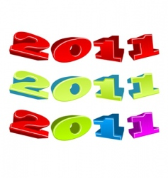 illustration of 2011 year vector image
