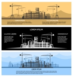 Construction building banners set vector