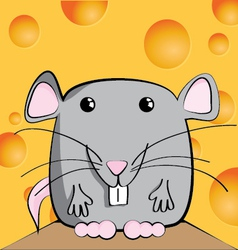 cute mouse cartoon character vector image