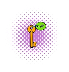 Key room comics icon vector