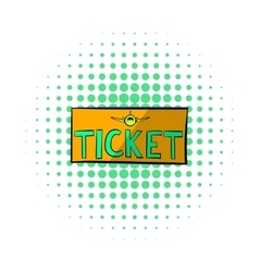 Plane tickets icon comics style vector