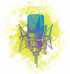 hand drawn studio microphone vector image