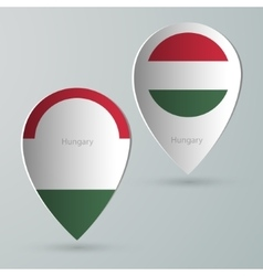 Paper of map marker for maps hungary vector