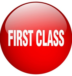 First class red round gel isolated push button vector