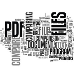 A need to compare pdf files text word cloud vector