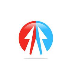 arrow circle abstract logo vector image