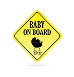 Baby on board warning vector