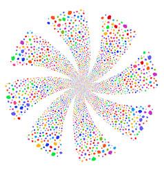 Balloon fireworks swirl flower vector