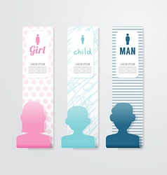 Banner People Paper Template vector image